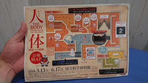 人体展の会場MAP