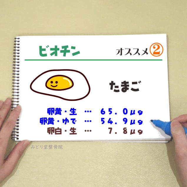 ビタミンB7【ビオチン】_オススメ2(たまご・卵黄)