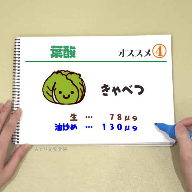 ビタミンB9【葉酸】_オススメ4(きゃべつ)