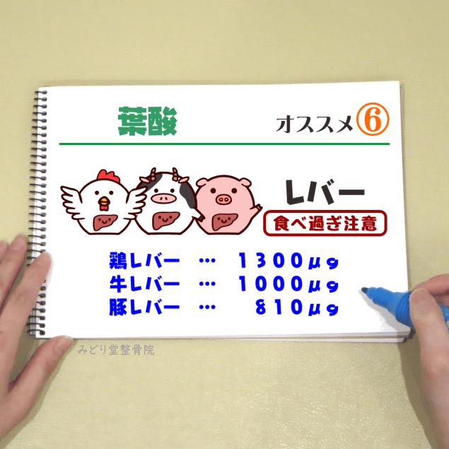 ビタミンB9【葉酸】_オススメ6(レバー)