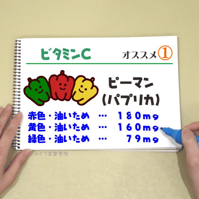 ビタミンC_オススメ1(ピーマン・パプリカ)