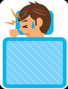 群発性頭痛の男性
