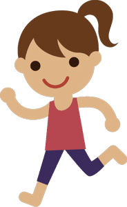 ジョギングをする女の子