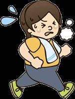 ジョギングでダイエットする女性