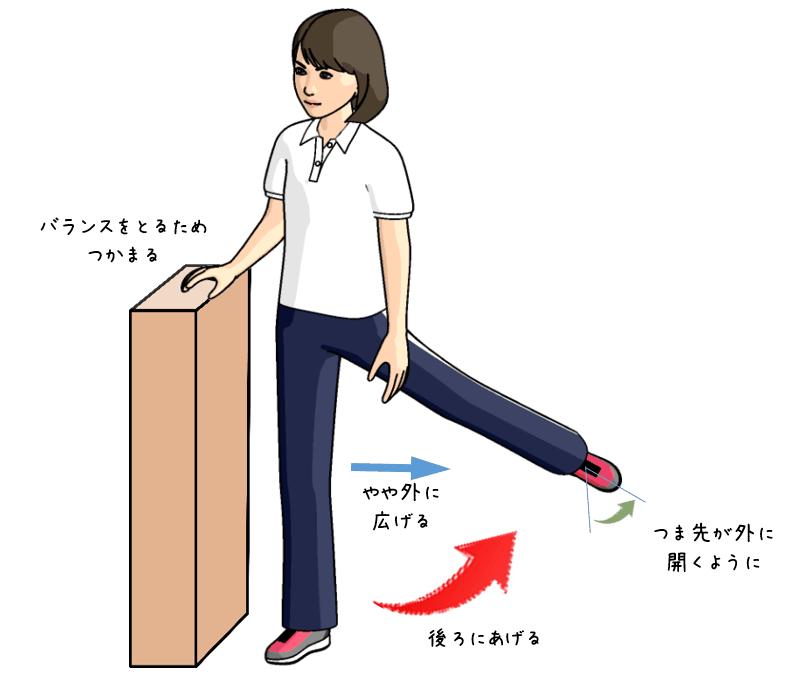 お尻の深い筋肉のトレーニングをする女性のイラスト