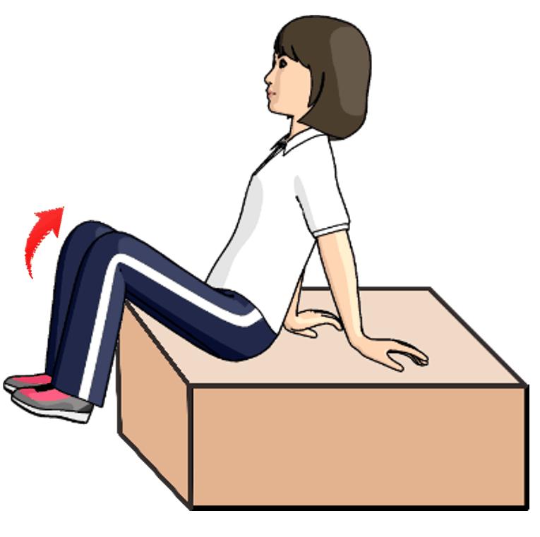 両足を上げて腹筋のトレーニングをする女性のイラスト