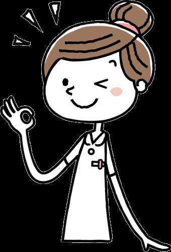 OKサインを出す女性のセラピスト
